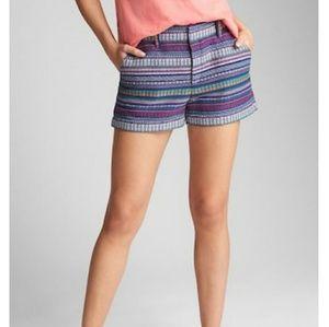 "GAP 3"" City Shorts in Multicolor Weave (sz.4)"